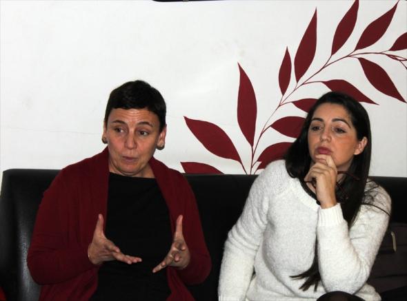 De izquierda a derecha, Carla Fibla y Beatriz Mesa.