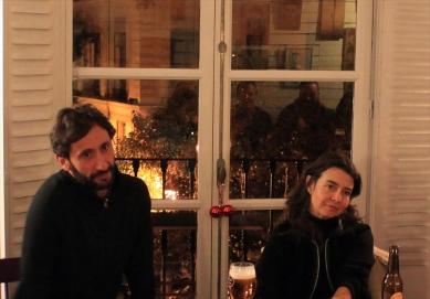 Javier Zurita (izquierda) y Ofelia de Pablo (derecha) en La Tertulia Infinita 13