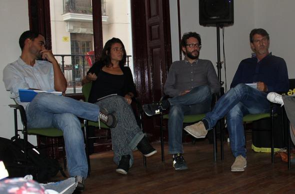De izquierda a derecha: Manuel Sobrino, Anna Surinyach, Fernando G. Calero, Miguel Ángel Rodríguez. Foto: Jon Bradburn.