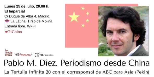 Cartel de La Tertulia Infinita 20 con Pablo M. Díez