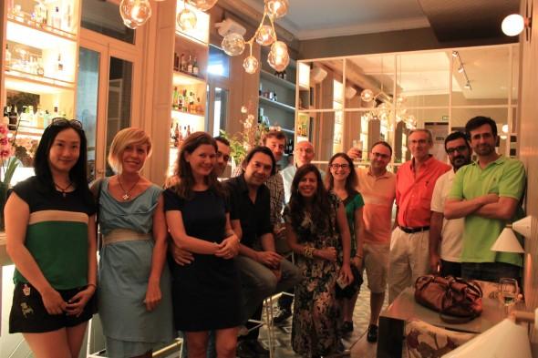 Corresponsales y expertos en China que asistieron a La Tertulia Infinita. Foto: Mª Ángeles Martín.